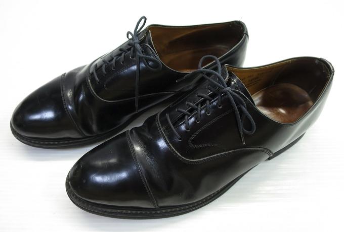 画像1: イングランド製 ラルフローレン レザーシューズ 28.5cm 黒/革靴