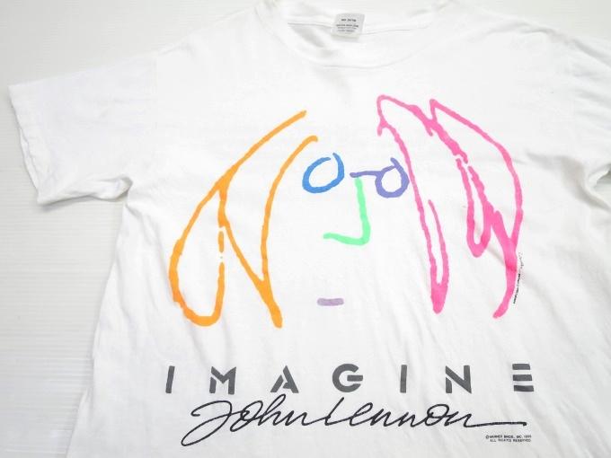 画像1: 80's ジョンレノン イマジン Tシャツ M/ビンテージ ビートルズ