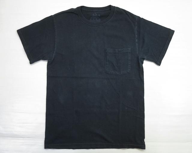 画像2: FRUIT OF THE LOOM ポケット Tシャツ S 黒 ブラック/コットン ポケT 無地 1