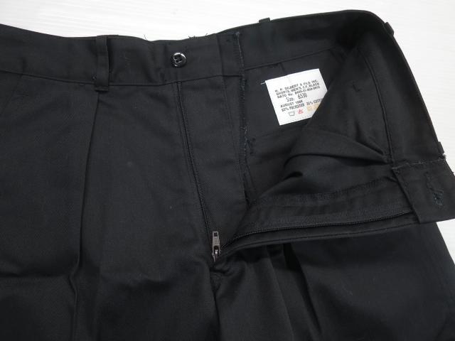 画像3: デッドストック 80's カナダ軍 タック入り ショートパンツ W30 65 ブラック 黒/ビンテージ ショーツ