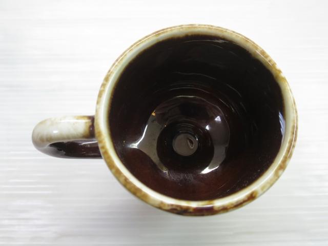 画像4: mccoy マッコイ USA 脚付き セラミック マグ 茶/ビンテージ アンティーク コーヒー コップ 窯変