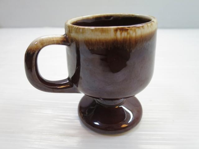 画像3: mccoy マッコイ USA 脚付き セラミック マグ 茶/ビンテージ アンティーク コーヒー コップ 窯変