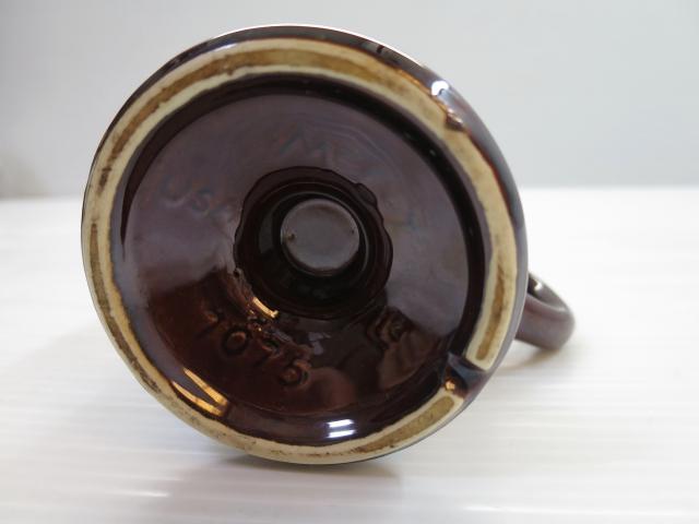 画像5: mccoy マッコイ USA 脚付き セラミック マグ 茶/ビンテージ アンティーク コーヒー コップ 窯変