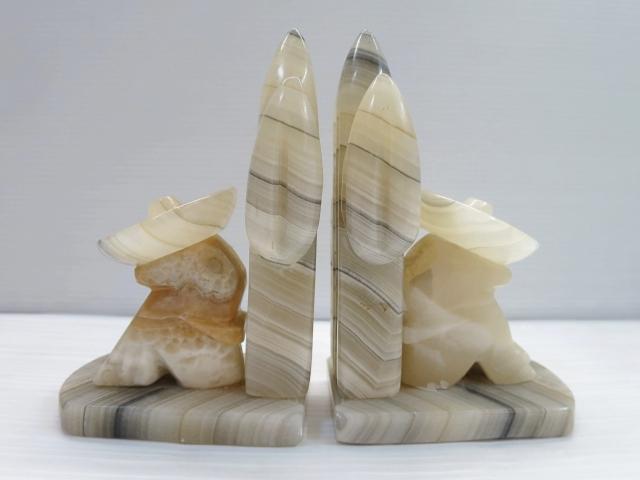 画像1: メキシコ サボテン 石 ブックエンド 本立て/ビンテージ アンティーク 大理石 メキシカン