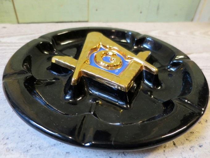 画像2: フリーメイソン アッシュトレイ 灰皿/ビンテージ アンティーク