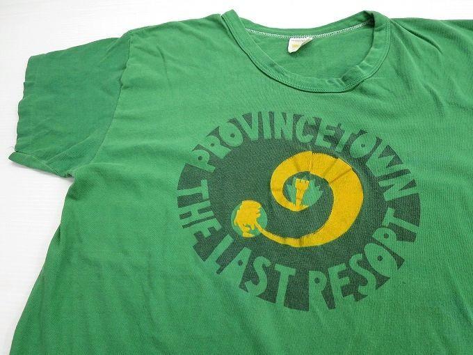 画像1: 70's RUSELL ラッセル プリントTシャツ XL 緑/ビンテージ
