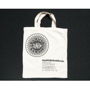 画像: ◆ ヨーロッパ古着 SANUM-Kehlbeck コットン エコバッグ トートバッグ 39cm×34cm 白/ビンテージ オールド ドイツ キャンバス 2